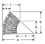 23'' W Curve, 45°, No Spacing, Teak/Ipe