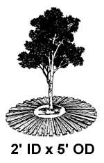 """2' ID x 5' OD x 1"""" High, Tree Mat"""