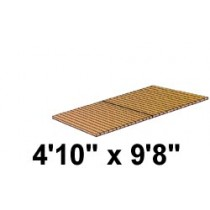 4'10'' x 9'8'' Roll Out, No Spacing, Teak/Ipe