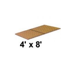 4' x 8' Roll Out, Narrow Spacing, Teak/Ipe