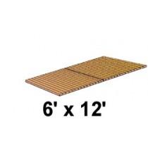 6' x 12' Roll Out, Narrow Spacing, Teak/Ipe