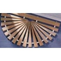 "39"" Wide x 23"" Sunburst, Wide Sp, Natural, Cypress"
