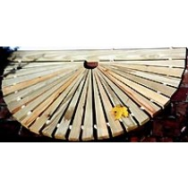 "39"" Wide x 23"" Sunburst, Narrow Sp, Natural, PT"