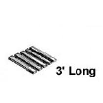 48'' W x 3' Roll Out, Narrow Spacing, Teak/Ipe