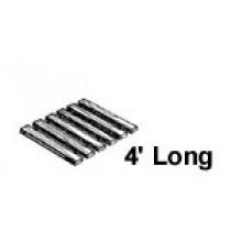 48'' W x 4' Roll Out, Narrow Spacing, Teak/Ipe