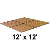 12' x 12' Roll Out, Narrow Spacing, Teak/Ipe