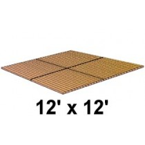 12' x 12' Roll Out, No Spacing, Teak/Ipe