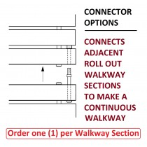 CONNECTOR OPTIONS for WIDE & NARROW Spacing Walkways