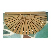 "39"" Wide x 23"" Sunb, Narrow Sp, Natural, Teak/Ipe"