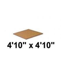 4'10'' x 4'10'' Roll Out, Narrow Spacing, Teak/Ipe