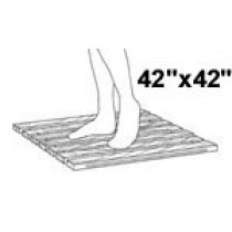 "42"" Wide x 42"", Shower Mat, Narrow Sp, PT"