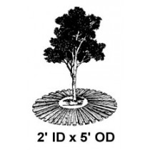 "2' ID x 5' OD x 1"" High, Tree Mat"