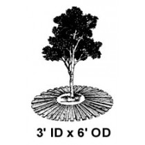 "3' ID x 6' OD x 1"" High, Tree Mat"